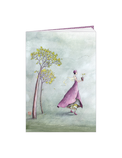 "Notebook - Gaelle ""Plant a tree"" - lined, 10.5cm x 15cm - Skribr - 1"