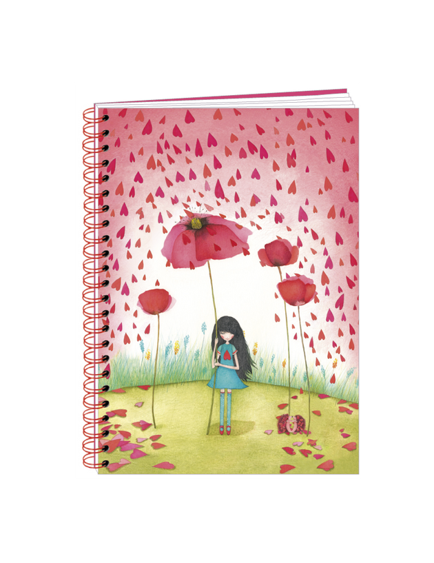 Spiral-bound Notebook - Mila Poppy Umbrella - Skribr