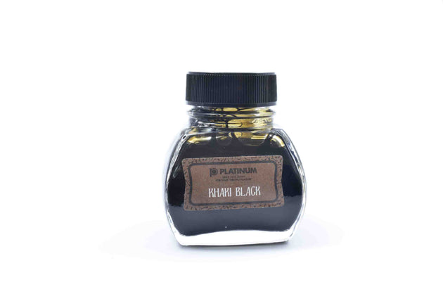 Platinum Classic Fountain Pen Ink 60ml - Khaki Black | Skribr