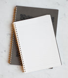 LIFE Stationery Japanese Paper 'Symphony' Notebook - A4 - Ruled - Grey Cover - Skribr - 2