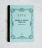 LIFE Stationery Japanese Paper 'Noble Note' Notebook - A4 - Ruled - Light Blue | Skribr