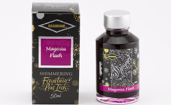 Diamine Shimmering  Ink - Magenta Flash - 50 ml - Skribr