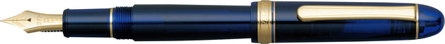 Platinum #3776 Century Chartres Blue Fountain Pen - 14kt Medium Nib | Skribr