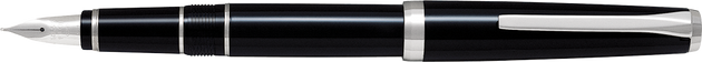Pilot Falcon Fountain Pen – Black with Soft Fine Nib - Skribr