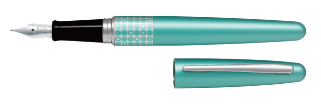 Pilot MR Fountain Pen Dots Aqua - Medium Tip - Skribr - 1