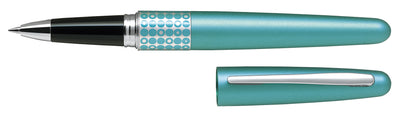 Pilot MR Rollerball Gel Ink Pen Houndstooth Dots Aqua - Medium Tip - Skribr
