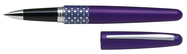 Pilot MR Rollerball Gel Ink Pen Houndstooth Eclipse Violet - Medium Tip - Skribr
