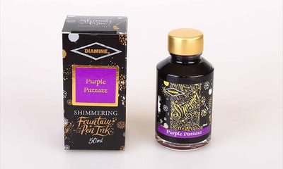 Diamine Shimmering  Ink - Purple Pazza | Skribr