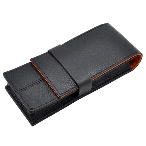 Wancher Penbrace - 3 Pen Pouch - Black-Orange
