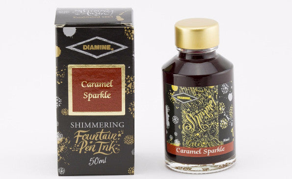 Diamine Shimmering  Ink - Caramel Sparkle - 50 ml - Skribr