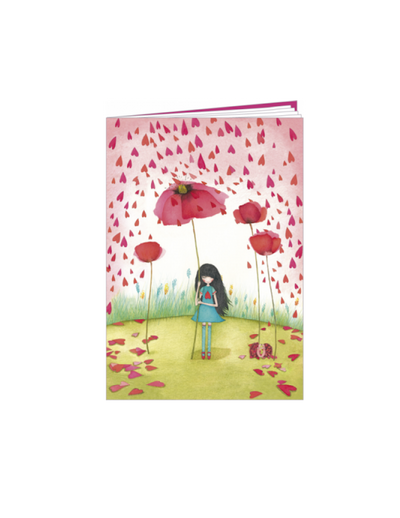 Notebook - Mila Poppy Umbrella - lined, 10.5cm x 15cm - Skribr
