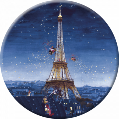 Pocket Mirror - Eiffel tower at night from Correspondances - Skribr - 1
