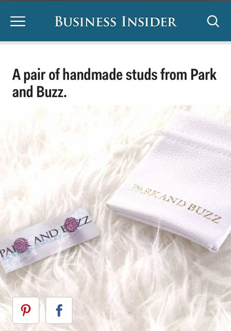 Business Insider 59th Grammy Swag Bag Article Featuring Park and Buzz Sparkle Radiance Studs