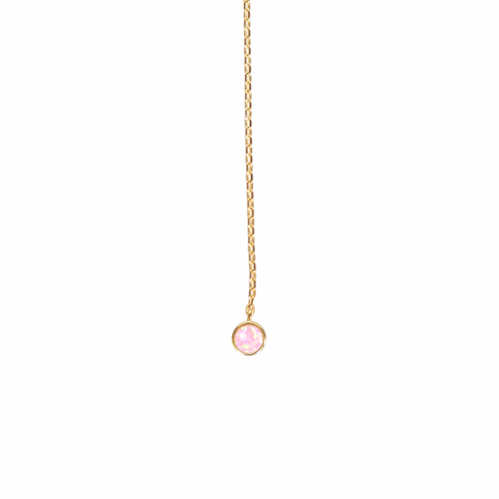 Load image into Gallery viewer, Mermaid Millennial Pink Opal Lariat