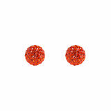 Radiance Studs Burnt Orange