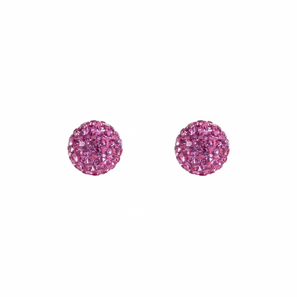 Park and Buzz radiance stud. Sparkle ball earrings. Hillberg and Berk. Canadian Brand. Glitter ball earrings. Bubblegum pink sparkle earrings jewelry jewellery. Valentines gift.