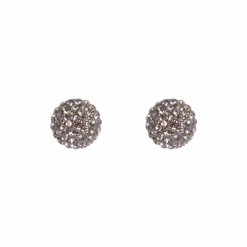 Park and Buzz radiance stud. Sparkle ball earrings. Hillberg and Berk. Canadian Brand. Glitter ball earrings. Charcoal sparkle earrings jewelry jewellery