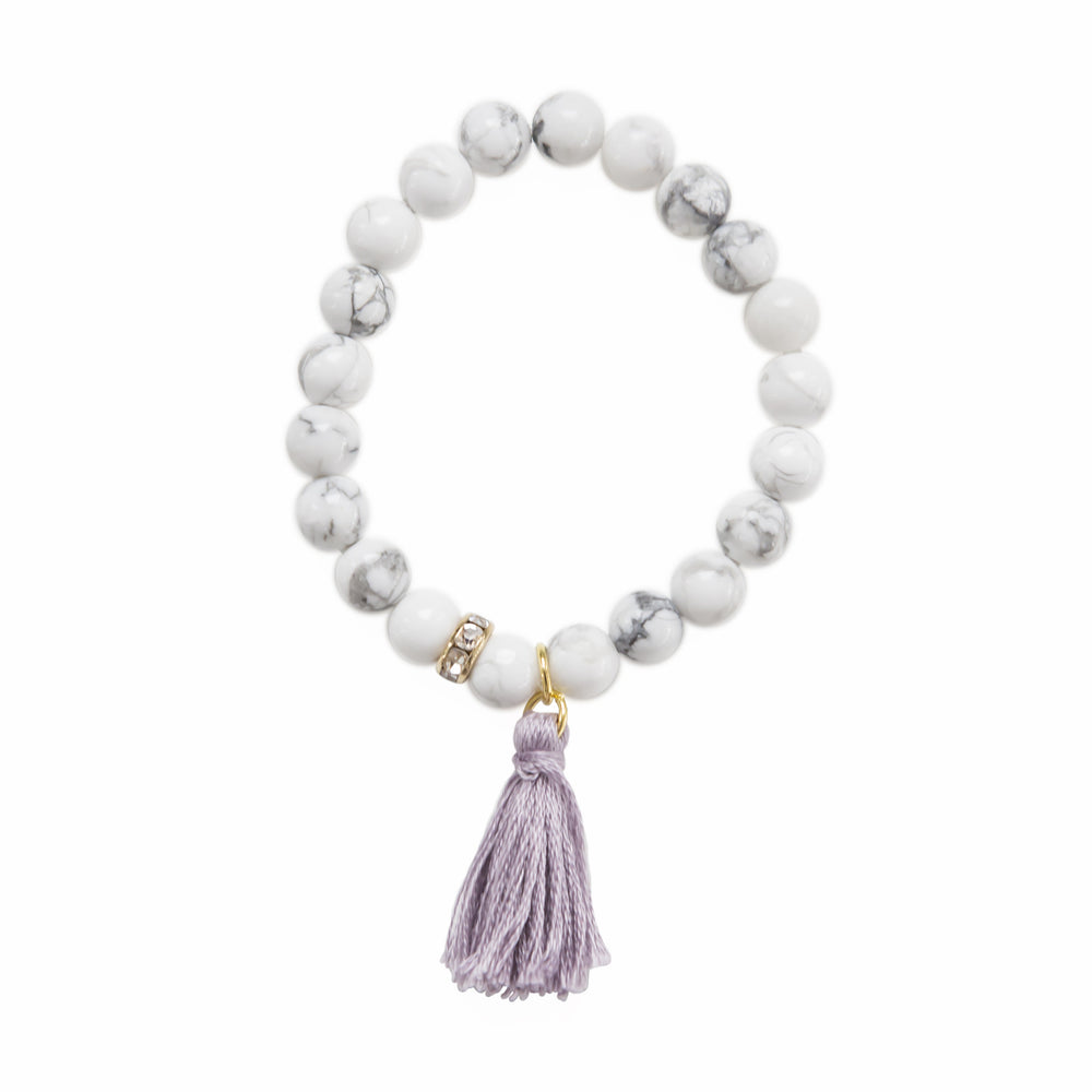 Load image into Gallery viewer, Marble Tassel Bracelet