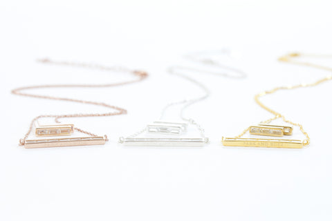Baguette Stud and Necklace Set Gifted To Oscar Nominees
