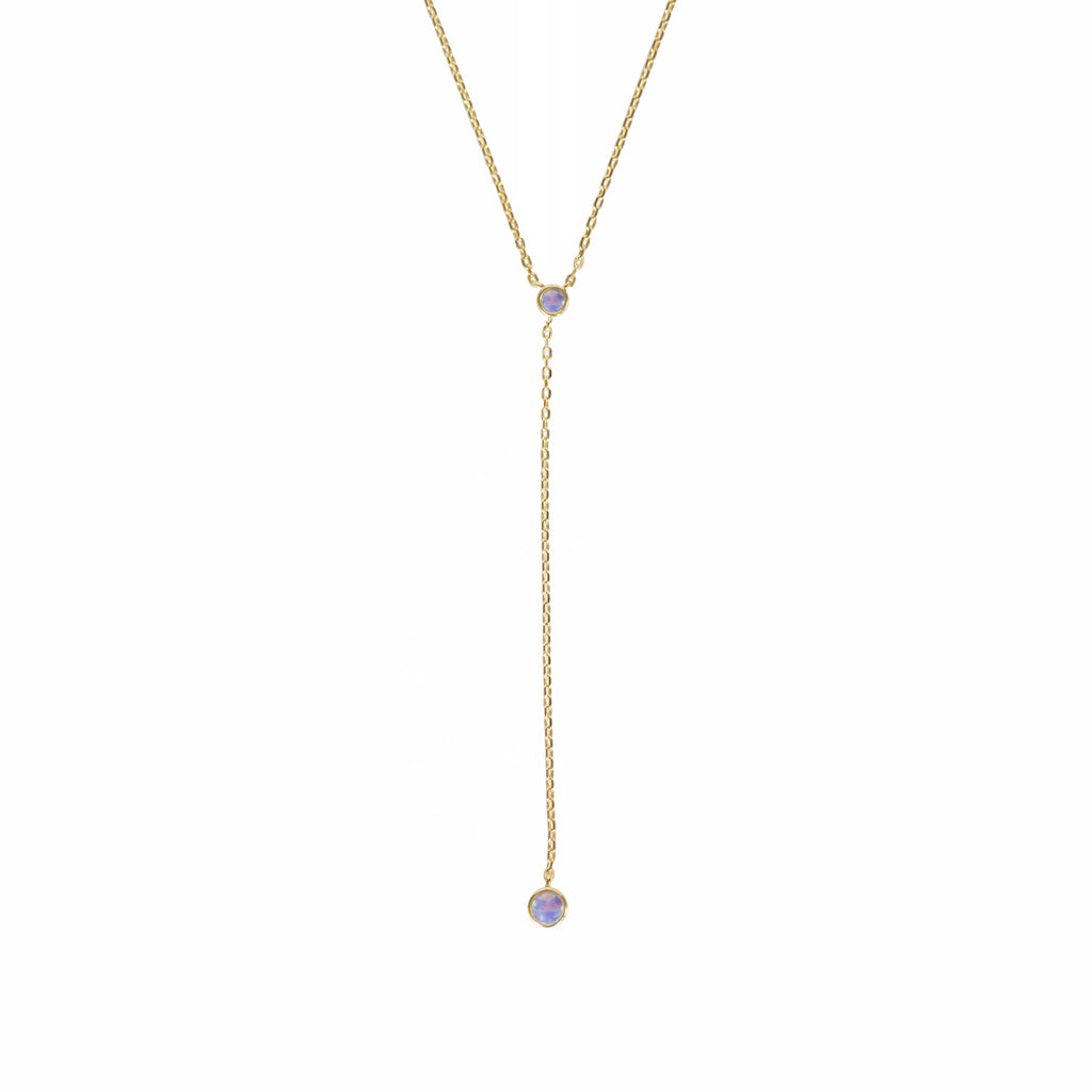 Mermaid Purple Opal Lariat