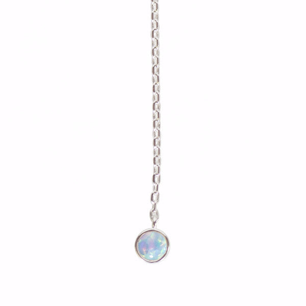 Load image into Gallery viewer, Mermaid Blue Opal Lariat