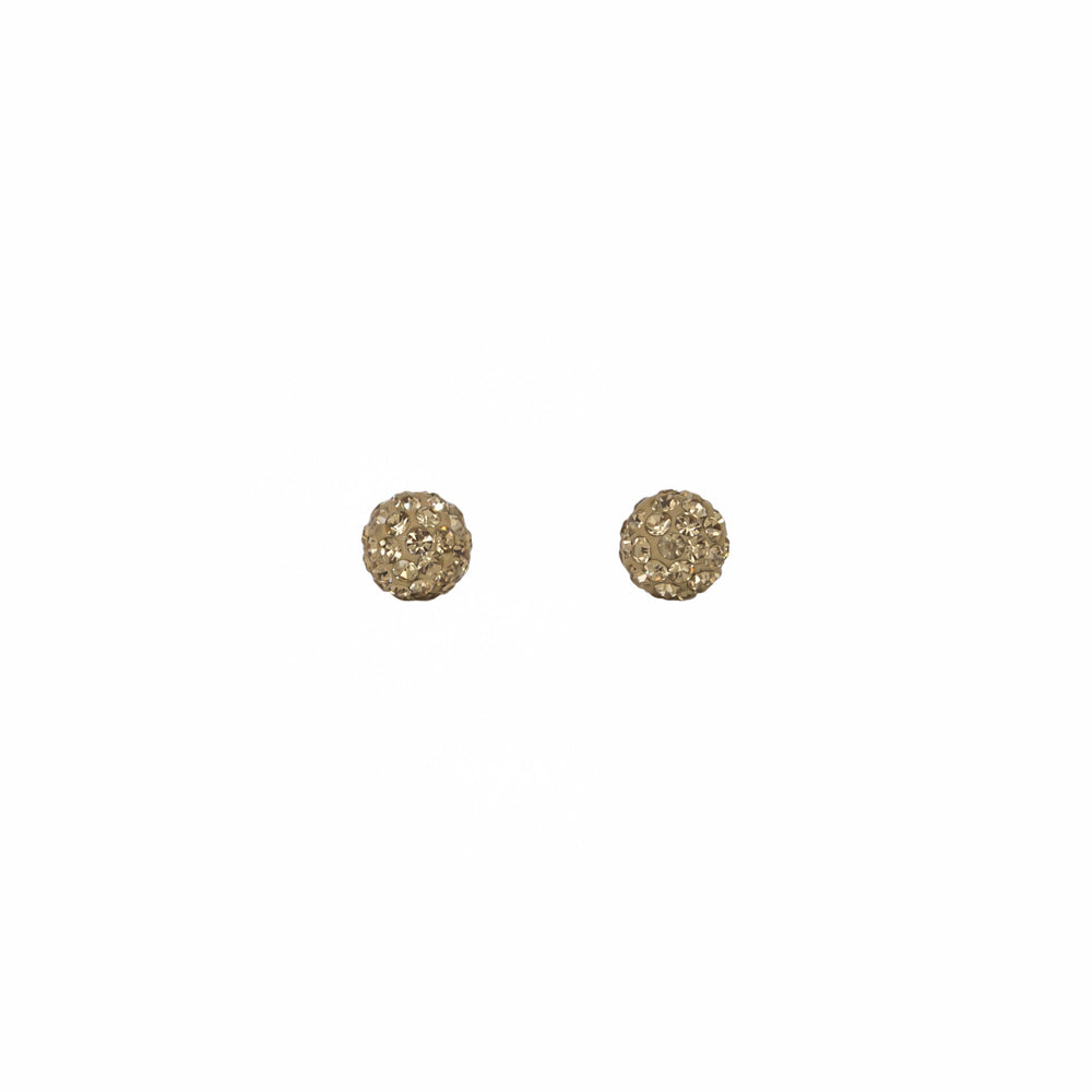 Park and Buzz radiance stud. Sparkle ball earrings. Hillberg and Berk. Canadian Brand. Glitter ball earrings. Gold sparkle earrings jewelry jewellery