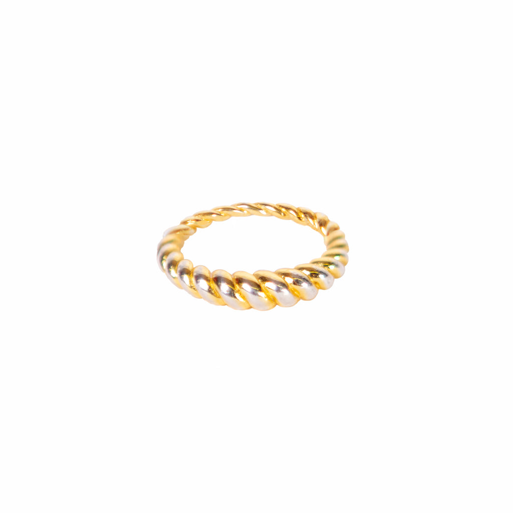 Dome Twist Ring-Gold
