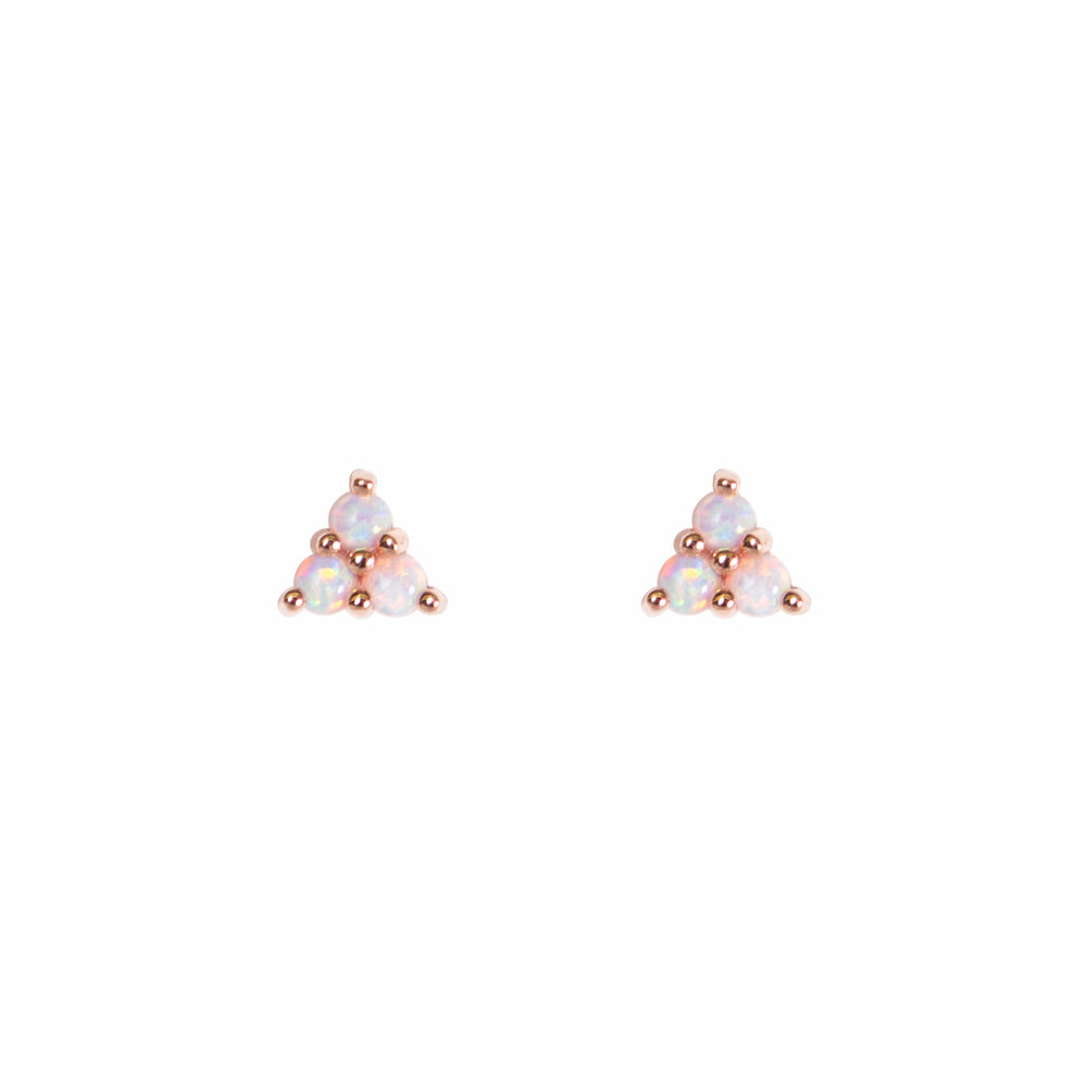 Load image into Gallery viewer, Mermaid Triangle Opal Studs