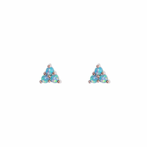 Mermaid Triangle Opal Studs