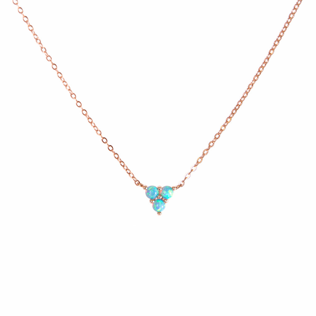 Mermaid Triangle Opal Necklace