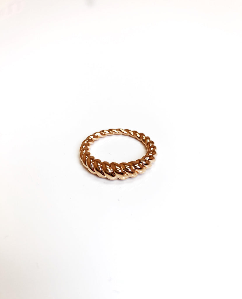 Dome Twist Ring-Rose Gold