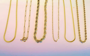 Large Paperclip Toggle Necklace