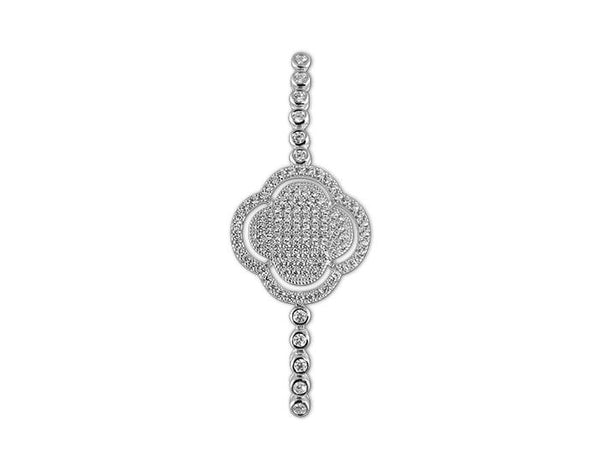 Sterling Silver Clover Tennis Bracelet - Mosaic Jewels