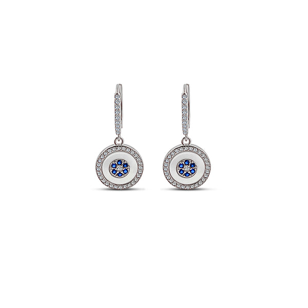 Sterling Silber Blue Eye Errings (Grace Collection) - Mosaik Juwelen