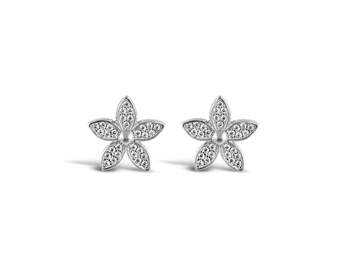 925 Silver Lily Flower Earrings