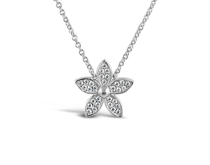 925 Silber Lily Flower Necklace - Mosaic Jewels
