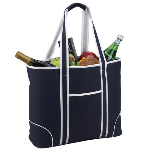 Extra Large Insulated Cooler Tote | Navy - summerhouse catalog