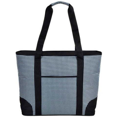 Extra Large Insulated Cooler Tote | Houndsteeth - summerhouse catalog