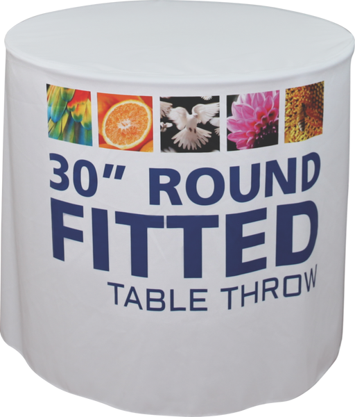 Round Fitted Table Throw
