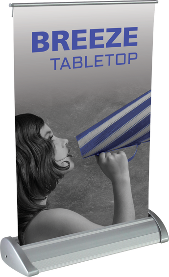 "The Breeze Retractable Bannerstand (8.38""w x 11.75""h)"