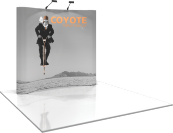 3 x 3 Coyote Popup Graphic Kit (Curved)