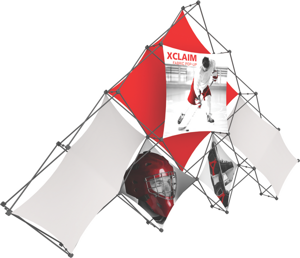Xclaim 10 Quad Pyramid Popup Graphic Kit 1