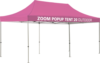 Zoom 20' Popup Tent - Solid Canopy