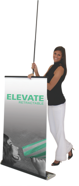 Elevate Retractable Banner Stand Setup