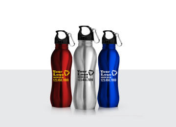 Sleek Bottle With Carabiner