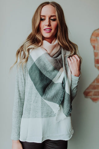 Makayla Plaid Scarf