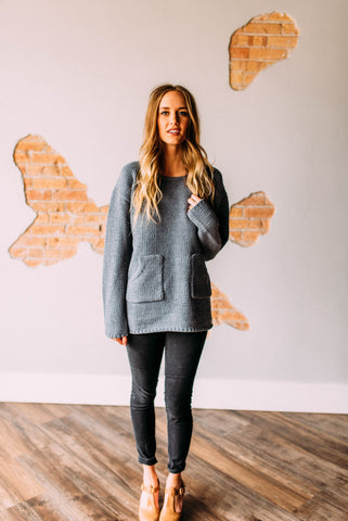 Cozy Knit Sweater in Charcoal