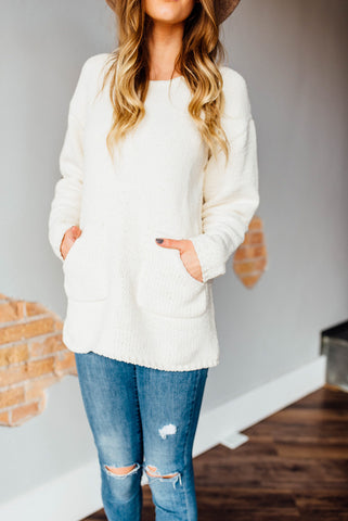 Cozy Knit Sweater in Ivory