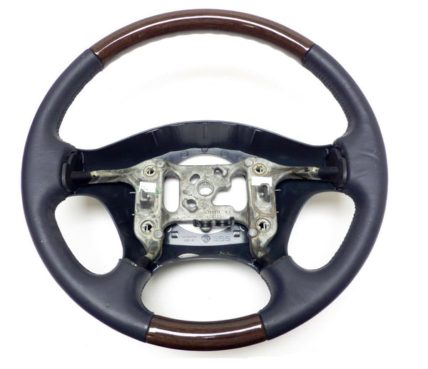 1998-02 Cadillac Seville Steering Wheel Factory Blue Leather Woodgrain 16758372