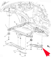 13235089 Suspension Sub-Frame Reinforcement Bracket Engine Cradle Brace Support